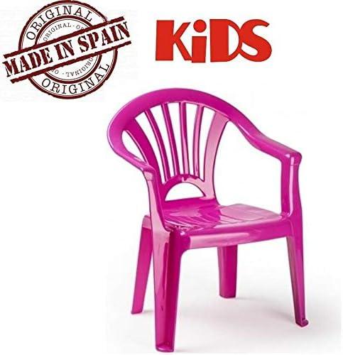 Plastiforte Silla de Plástico Color Rosa para Niños Plasticforte: Amazon.es: Jardín