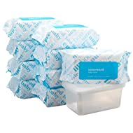 Amazon Elements Baby Wipes, Unscented, 720 Count, Resealable Packs with Tub