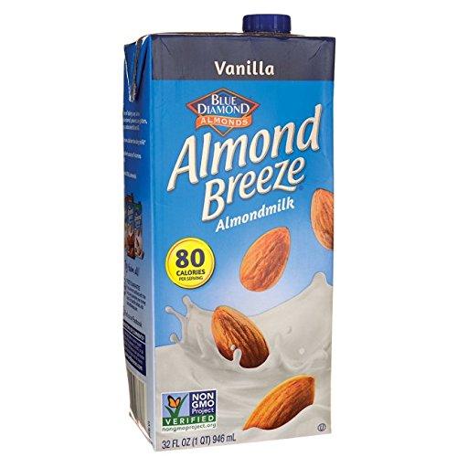 Blue Diamond Almond Breeze - Vanilla - 32 oz (Blue Diamond Beverages Almond Milk)