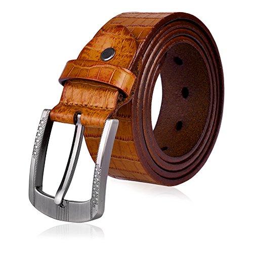 Vbiger Vintage Men's Belt 1 1/2