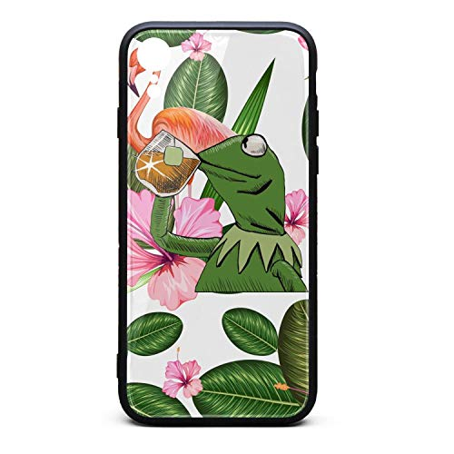 Phone Case Back Cover for iPhone xr Iphonexr Funny-Green-Frog-Sipping-Tea-Cute Non-Slip 3D Printed PC TPU Shockproof Anti-Scratch ()