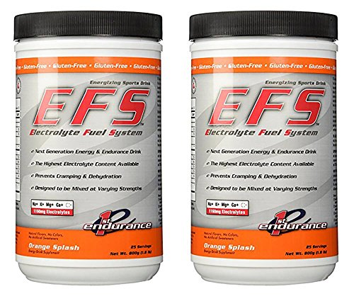 Pack of 2 First Endurance Orange Blast EFS Drink Mix Bundled by Maven Gifts