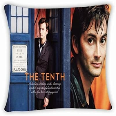 """Custom Dr Doctor Who Tardis Police Box Throw Pillow Cushion Case Cover 18""""x18"""" Two Sides Pillow Case Cushion Case Cover"""