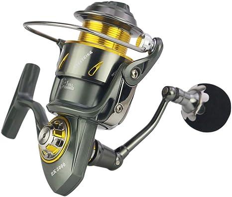 E-KIA Metal Carrete de Pesca Carretes Spinning,5.3: 1 RelacióN de Velocidad, Puede Pescar 25 Kg ~ 35 Kg: Amazon.es: Deportes y aire libre