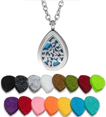 Plant Guru Essential Oil Diffuser Necklace Aromatherapy 25mm