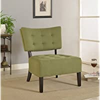Furniture of America Allio Contemporary Upholstered Accent Chair, Green