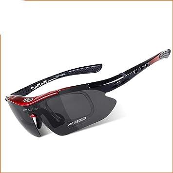 GSCshoe Equipo de Deportes Pesca al Aire Libre Gafas polarizadas Hombres Mirando Gafas Deportivas para Verlo
