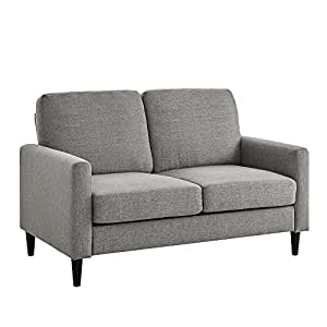 Amazon Com Dorel Living Kaci Loveseat Gray Kitchen Amp Dining