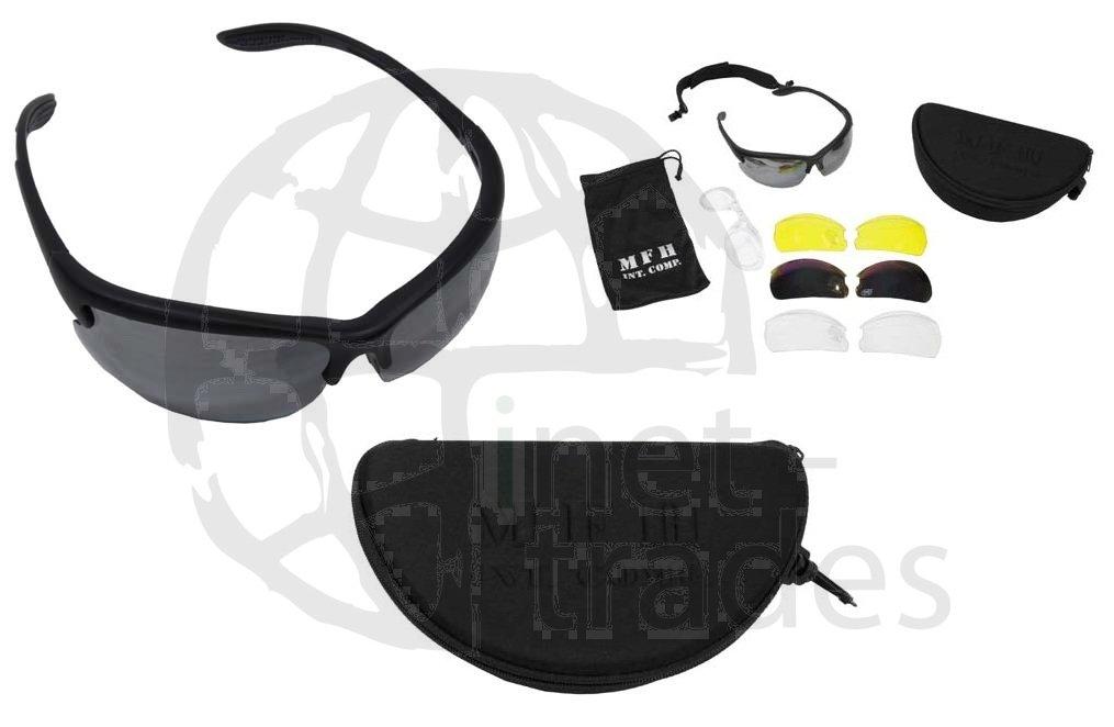 MFH Sportbrille Armee Strike 3 Ersatzgläser, schwarz
