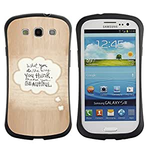 "Pulsar iFace Series Tpu silicona Carcasa Funda Case para SAMSUNG Galaxy S3 III / i9300 / i747 , Hermosa cita del amor de la burbuja del texto de Brown"""