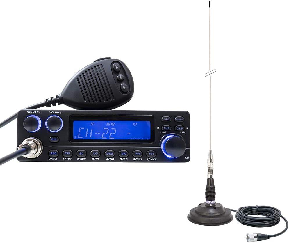 Radio CB TTI TCB-5289 12V de Anytone con Antena PNI ML100 con ...