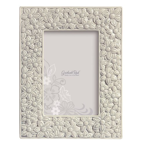 Picture Floral Frame (Grasslands Road Everyday Life Photo Frame, Grey Floral, 4 by 6-Inch)