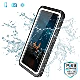 SPIDERCASE Samsung Galaxy S8 Waterproof Case, Audio Enhanced Full Body Protective Rugged Cover Snowproof Dirtproof IP68 Certified Waterproof Case for Samsung Galaxy S8 - White&Clear