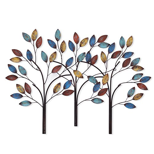 Asense Tree of Life Metal Wall Decor Sculptures for Living Room, Kitchen Wall