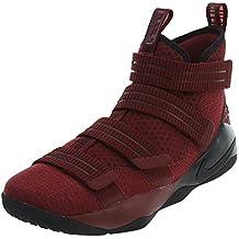 NIKE Men's Lebron Soldier XI SFG Basketball Shoe, Team Red/Black-White-Total Crimson, 10
