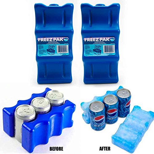 Freez Pak Coolant | Reusable Can Cooler Pack Gel | Cold Ice Substitute | Holds 6 Soda or Beer Cans - 2 Pack ()