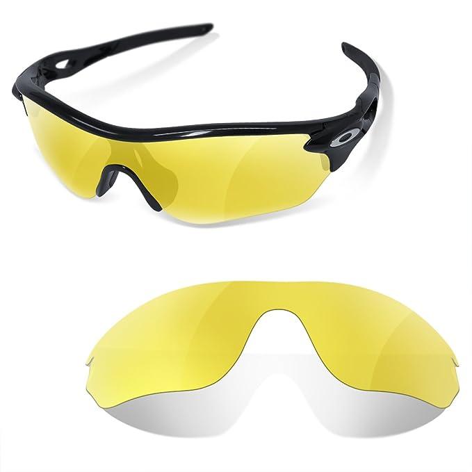Sunglasses Restorer Lentes Para Oakley Radarlock Edge (Cristales Polarizados Amarillo)