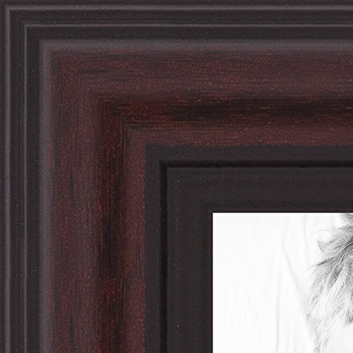 ArtToFrames 12x18 inch Traditional Cherry with Steps Picture Frame, WOMD8669-12x18
