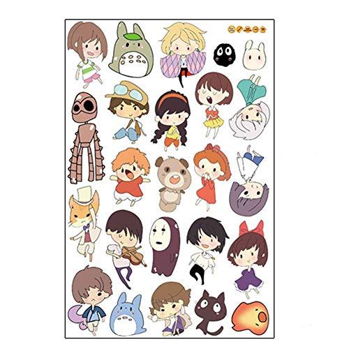 Logo Away Decal (Fangeplus(TM DIY Removable Spirited Away and My Neighbor Totoro Art Mural Vinyl Waterproof Wall Stickers Kids Room Decor Nursery Decal Sticker Wallpaper 35.4''x23.6'')