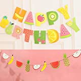 fruits party - Tutti Frutti Banner Kids 2nd Birthday Party Decoration Supplies