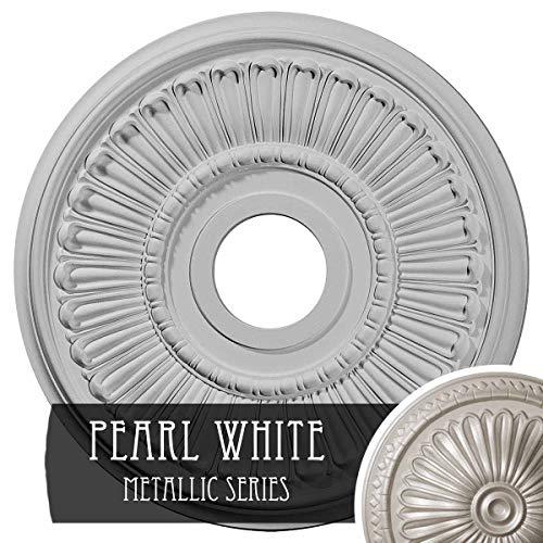 Ceiling Pearl Medallion - Ekena Millwork CM16MLPWS Melonie Ceiling Medallion, Pearl White