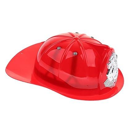 Sharplace Niño Juego De Simulación Fireman Jefe Casco De Seguridad Bombero  Sombrero Cap Juguete - Rojo 94116b14010