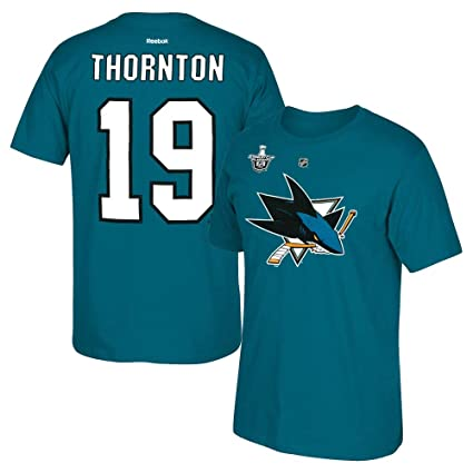 Amazon.com   adidas Joe Thornton Reebok San Jose Sharks Stanley Cup ... 2c6fc8513