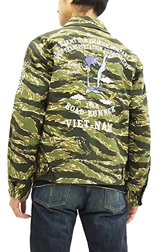 TOYS McCOY Utility Jacket Road Runner TMJ1702 Men's Tiger Stripe 40(Large)