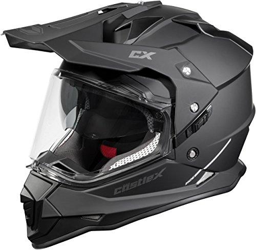 Castle Mode Dual-Sport SV Motorcycle Helmet (3XL, Matte Black) by Castle (Image #4)