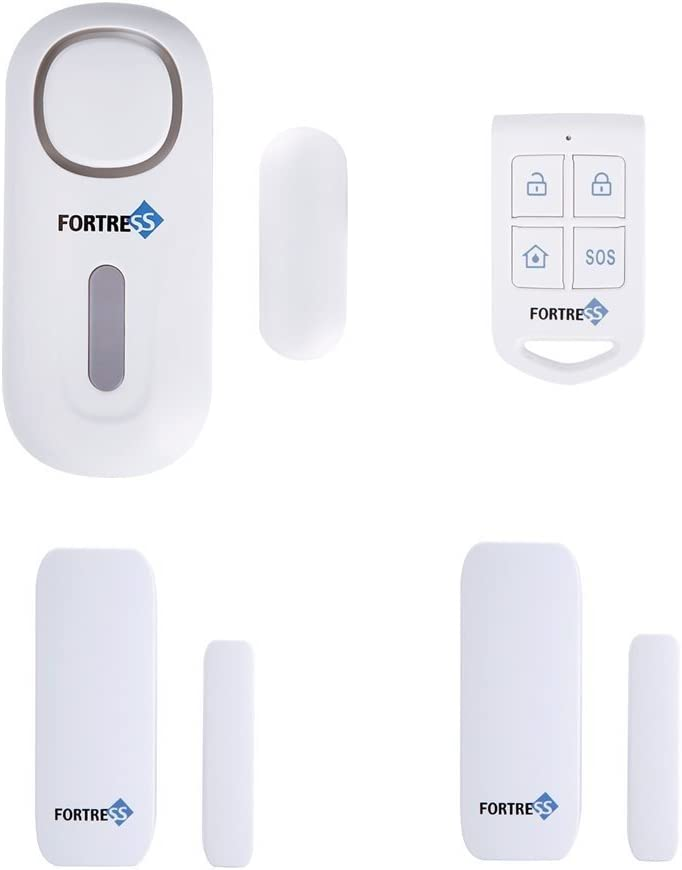 All-in-One Motion Activated DIY Wirless Alarm Fortress Security Guardian Personal Security Alarm or Doorbell Feature Easy to Install Great for Businesses or Homes