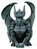 6.25 Inch Resin Medieval Sitting Guardian Gargoyle with Wings Statue