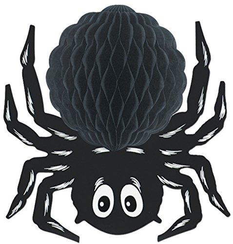 Black Tissue Spider Party Accessory (1 count) (1/Pkg) ()