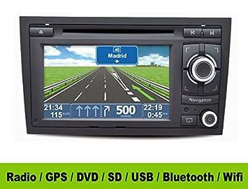 Radio GPS 2 DIN Android Audi A4 B7 - HD GPS DVD SD USB