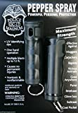 POLICE MAGNUM 2 Pepper Spray 1/2oz Black Flip Top Molded Keychain Security Self Defense Police Strength