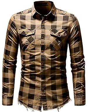Men's Slim Fit Buffalo Plaid Oxford Shirt