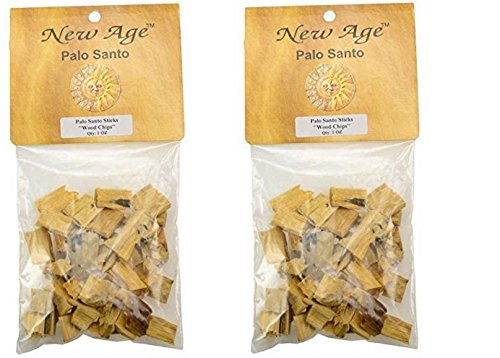 New Age Smudges & Herbs Palo Santo Chips, 1 oz Pack (2 x 1 Oz Pack) by New Age