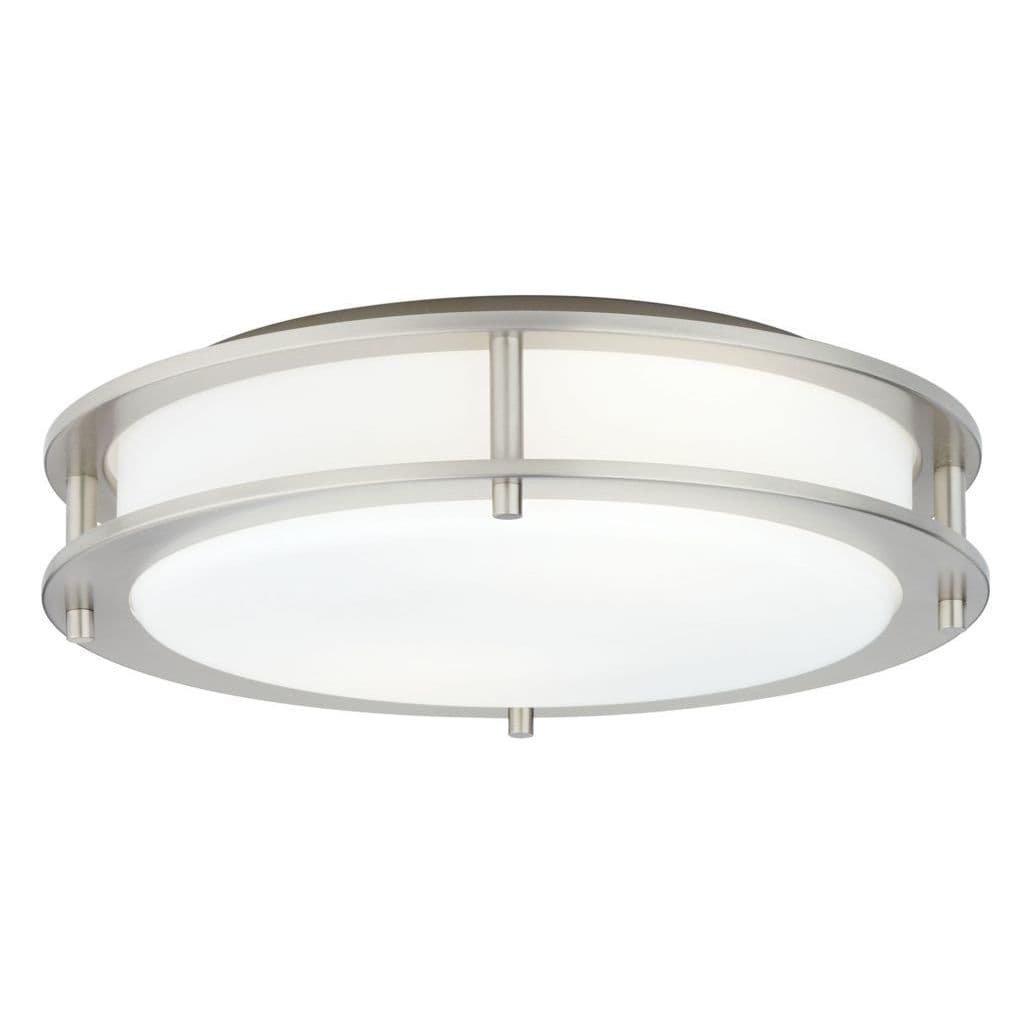 Hart照明1002sn1232 Beautility 2-light semi-flush withファブリック、サテンニッケル B00RAJ5YYQ