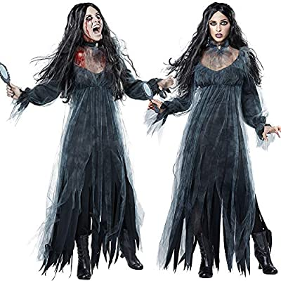Halloween Looks Scary.Halloween Clothes Women Scary Zombie Irregular Long Sleeve