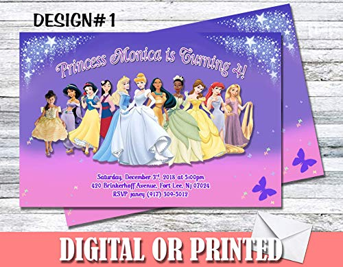 Princess Personalized Birthday Invitations More Designs Inside!