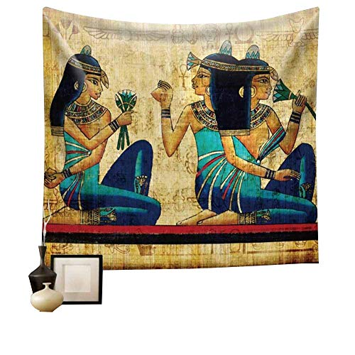 Egyptian Tapestry Wall Hanging Tapestry Backdrop Cloth Egypt Egyptian Character Home Dorm Living Room Guest Room Decoration HYC02-B-US 59