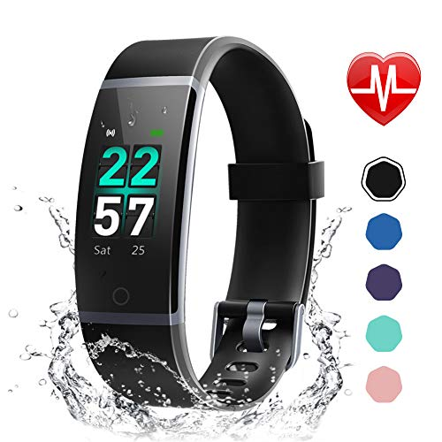 Letsfit Fitness Tracker, Activity Tracker Watch with Heart Rate Monitor, Waterproof IP68 Smart Watch with Step Counter, Calorie Counter, Call & SMS Pedometer Watch for Women Men Kids