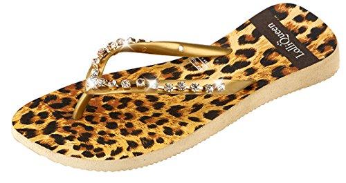 Lqwings001 Queen Calze Lolli leopardo donna xwSX0qWz7F