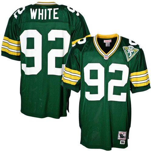Mitchell & Ness Green Bay Packers 1993 Reggie White Authentic Throwback Jersey Size 52 ()