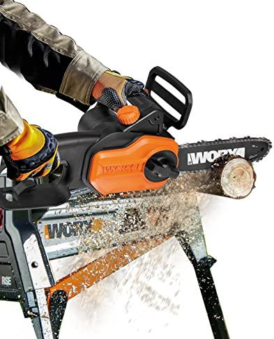 WORX WG310 8 8A Electric Power Pole Saw, Black and Orange
