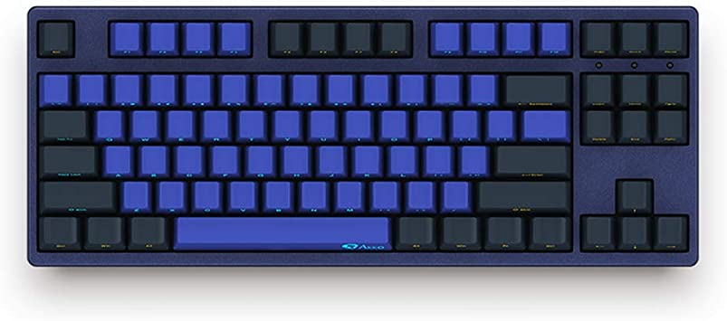 Epomaker RK987 87 Keys RGB Mechanical Keyboard with Cherry MX Switch Office Work for iOS Android Windows Programmer PBT Keycaps for Gamer Blue Switch, Black
