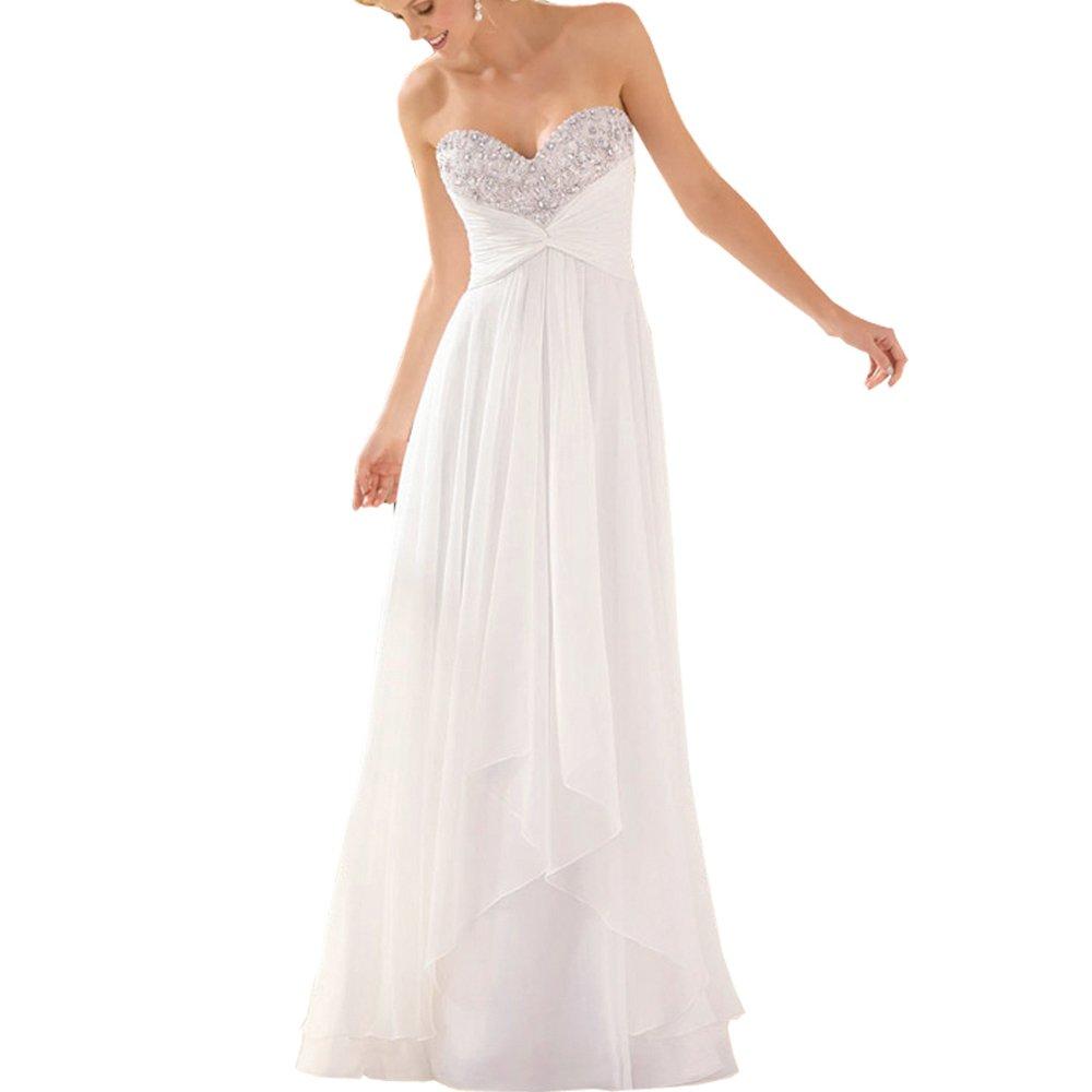 abwedding mujeres Boho de corazones de cristal de novia fiesta largo vestidos de boda: Amazon.es: Ropa y accesorios