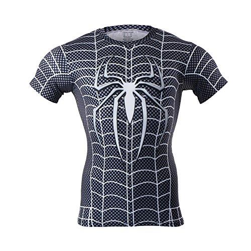 M.Baxter Herren Fitness T-Shirt Funktionsshirt Jogging Kompressionsshirt Kurzarm Atmungsaktiv Laufshirt (125-ZhiZhu, L)