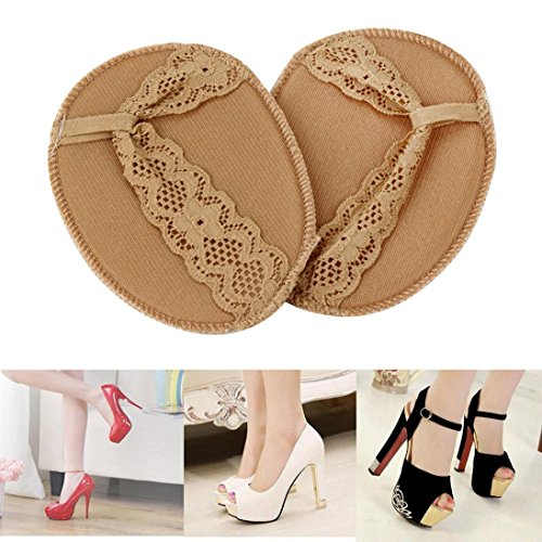 1Pair Forefoot Invisible High Heeled Shoes Slip Resistant Half Yard Pads Flesh s8FJ8Ih