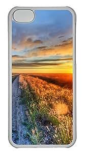 iPhone 5c Case Unique Cool iPhone 5c PC Transparent Cases Way In Dusk Design Your Own iPhone 5c Case