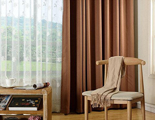 84l Panel (Under Ten 2 Panels- Room Darkening Thermal Insulated Blackout Grommet Window Curtain for Living Room(52W X 84 L -inch, Brown))